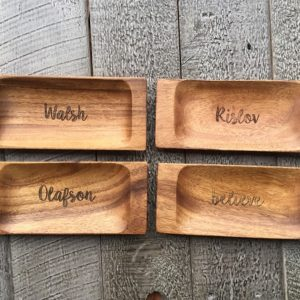 custom engraved appetizer tray
