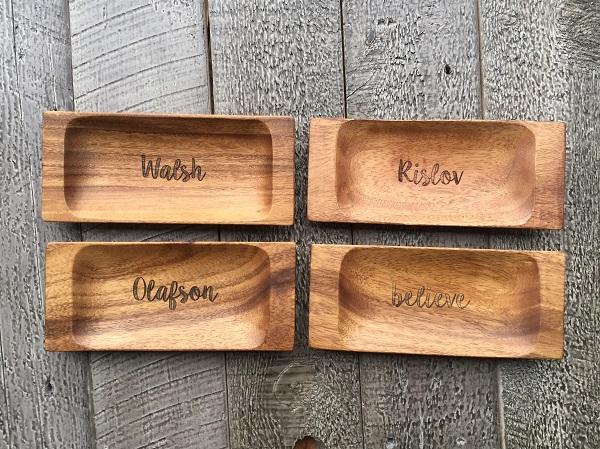custom engraved appetizer tray