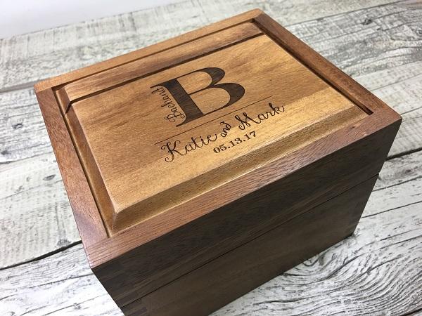 Acacia Recipe Box