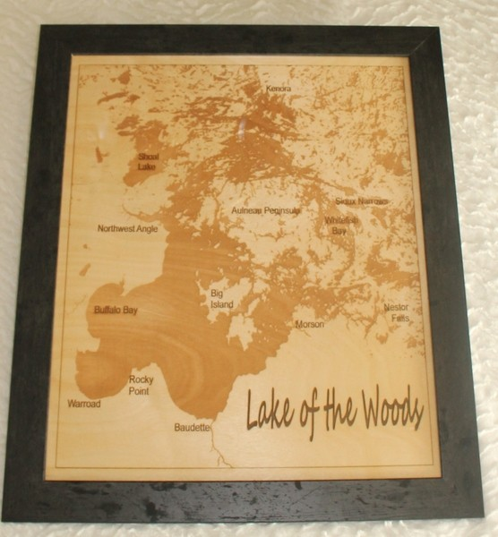 Laser Engraved Large Map Familylaser