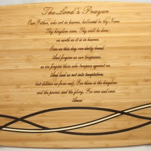 engraved text board