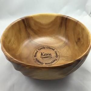laser engraved custom bowl