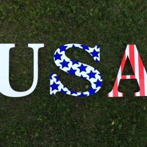 sublimated letters USA