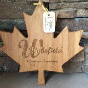 maple leaf laser cutting board