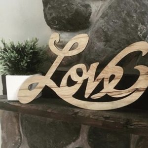 Laser Cut Love Word