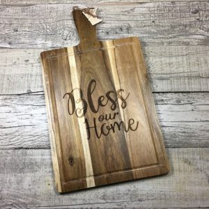 bless our home cutting board