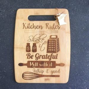 kitchen rules for cutting board