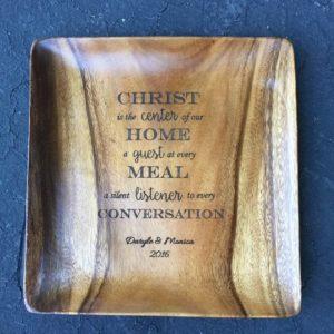 engraved custom wood plate