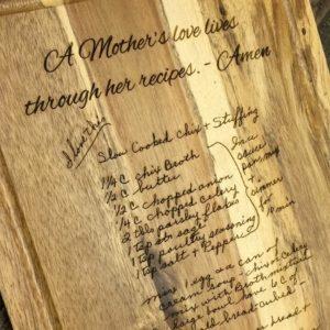 engraved recipe