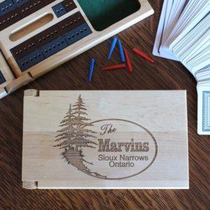 custom engraved cribbage board game