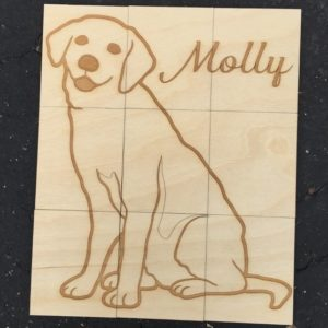 puppy wood puzzle