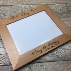 Engraved wedding gift picture frame