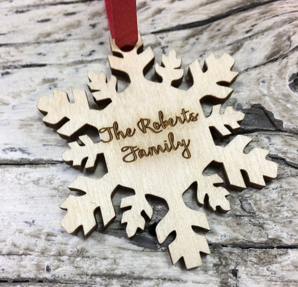 laser cut snowflake christmas ornaments