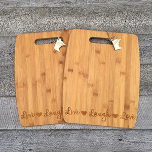 live laugh love cutting board