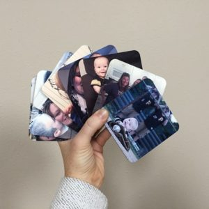 sublimated pictures on coasters