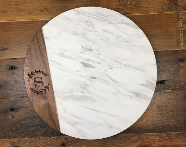 wood and marble board